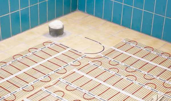 Электрические теплые полы - один из видов организации отопления в бане