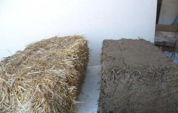Смесь глины и соломы (или опилок) имеет хорошие теплоизолирующие характеристики