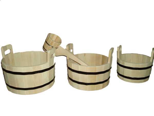 Ковши из дерева для бани