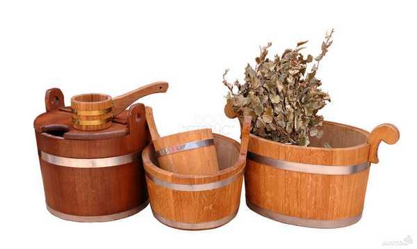 Шайка и ковш для бани