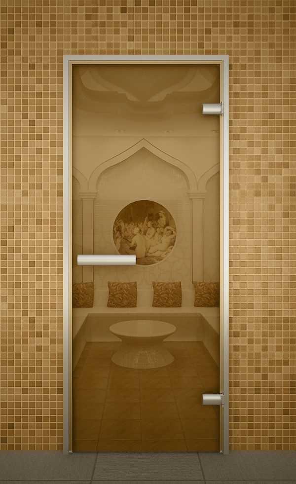 Стеклянная дверь хамам
