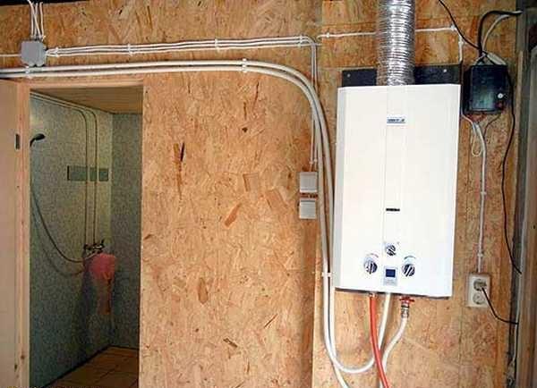 Газовый проточный водонагреватель для бани