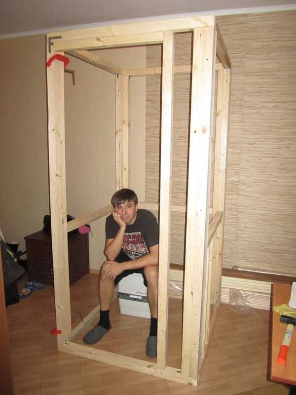 Как построить сауну в квартире: делаем каркас кабинки