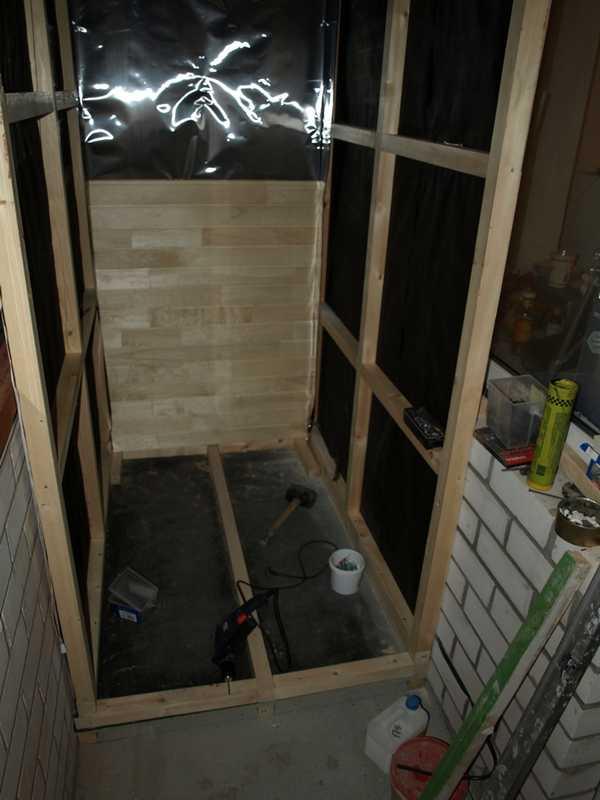 Как построить сауну в квартире: каркас для сауны на балконе