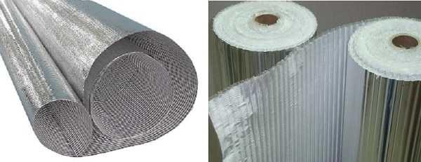 Это материалы на основе стеклоткани. Кроме пароизоляции они обладают еще довольно значительными свойствами по теплоизоляции
