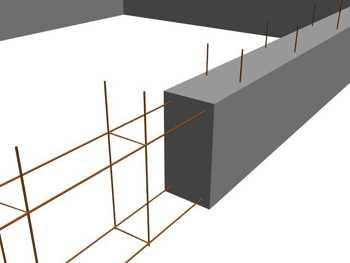 Ленточный фундамент любой высоты практически всегда имеет два пояса армирования - верхний и нижний