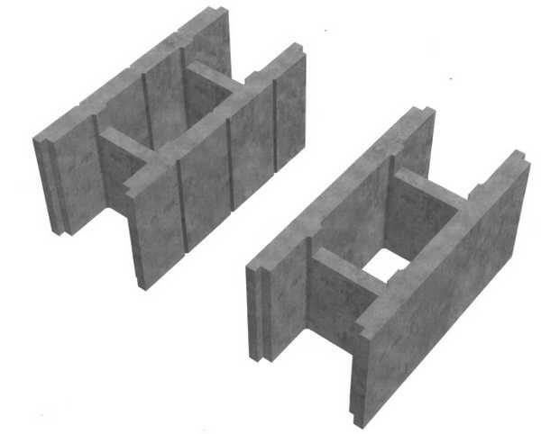 Бетонные блоки для несъемной опалубки