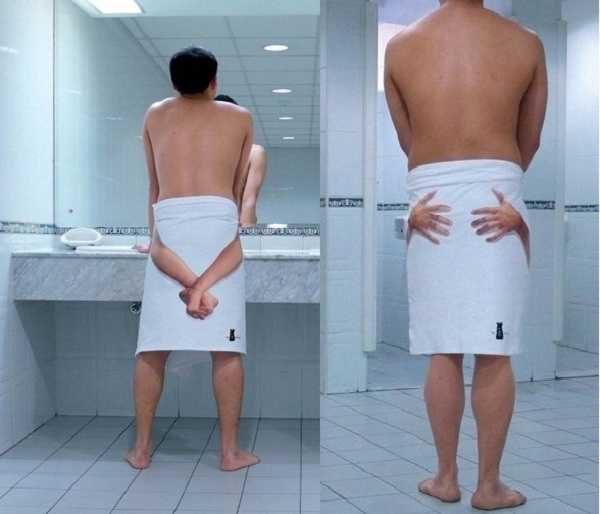 Прикольное банное полотенце - забавно для друзей