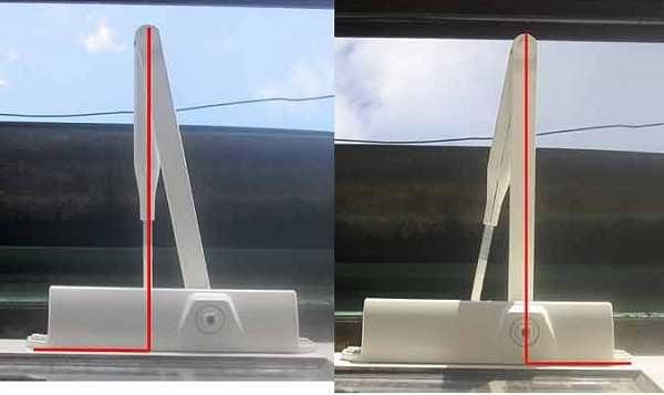 В зависимости от того с защелкой двери или без, выставляется перпендикулярно к двери одно или другое плечо рычага