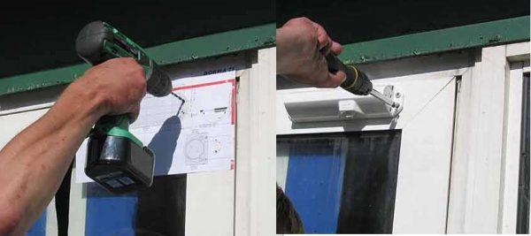 При наличии шаблона, установка доводчика своими руками совсем несложна