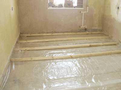 Как устанавливать лаги на бетонное основание