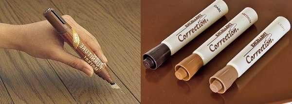 Заплатки можно подкрасить мебельными маркерами