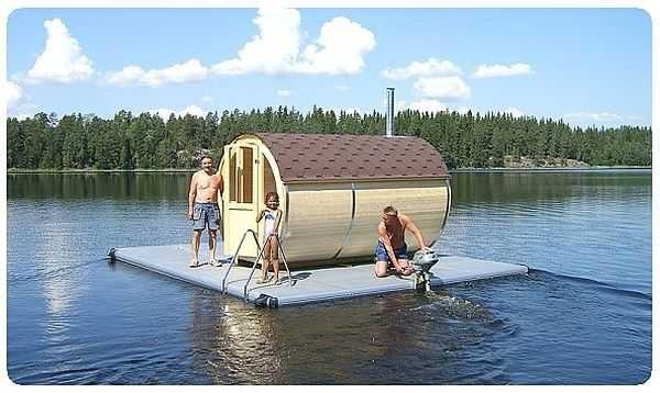 Баня на воде - и никаких проблем с бассеном