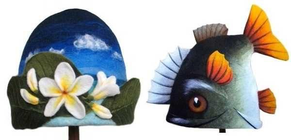 Дамский вариант банной шапки