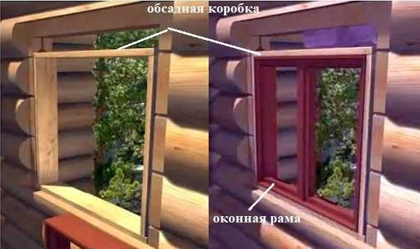 В деревянных домах окна устанавливают только с использованием обсадной коробкиВ деревянных домах окна устанавливают только с использованием обсадной коробки