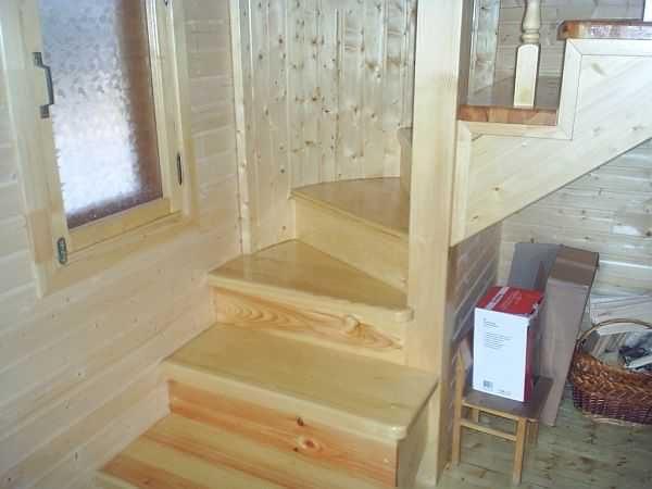 Лестница займет, как минимум два квадратных метра
