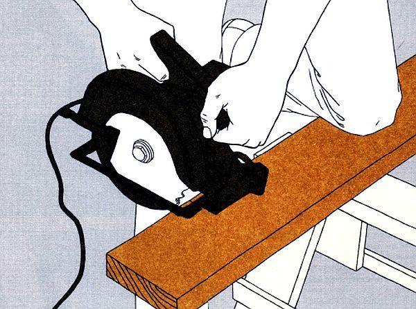 Как резать доску дисковой пилой поперек