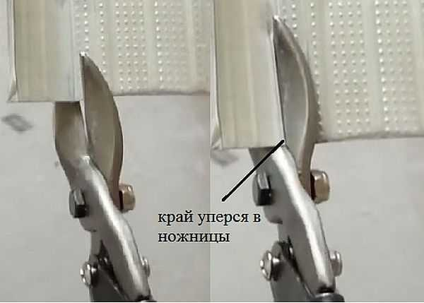 Резать листовой металл ножницами с прямыми лезвиями и симметричным креплением неудобно - край приходится загибать или вверх или вниз