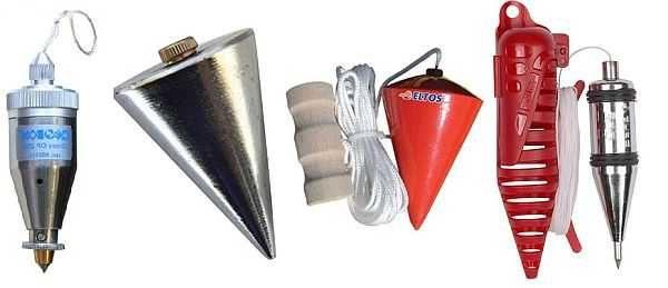 Отвес - это металлический грузик, ровно из середины которого выходит шнур. Форма грузика не важна, важно чтобы она имела симметричную форму и шнур выходил из середины