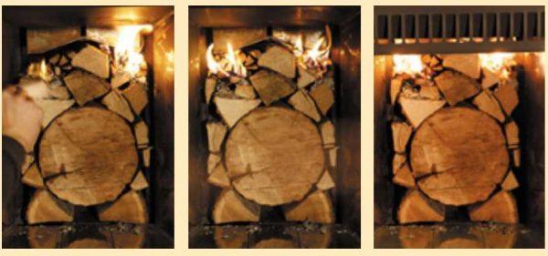 Как складывать дрова в топку