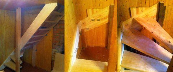 Как построить лестницу в баню на тетиве
