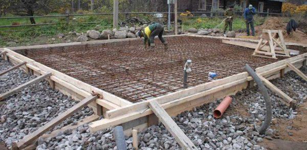 Фундамент готов к заливке
