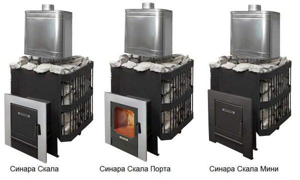 Печь-сетка для бани Синара Скала в трех разновидностях