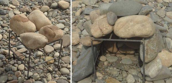 Каркас для каменки можно сварить